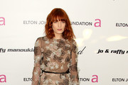 Florence Welch Blooms in Valentino at Elton John 's Oscar Viewing Party