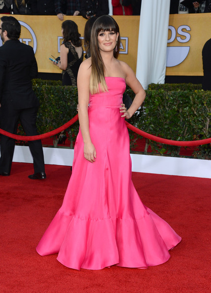 More Pics of Lea Michele Strapless Dress (1 of 21) - Lea Michele Lookbook - StyleBistro