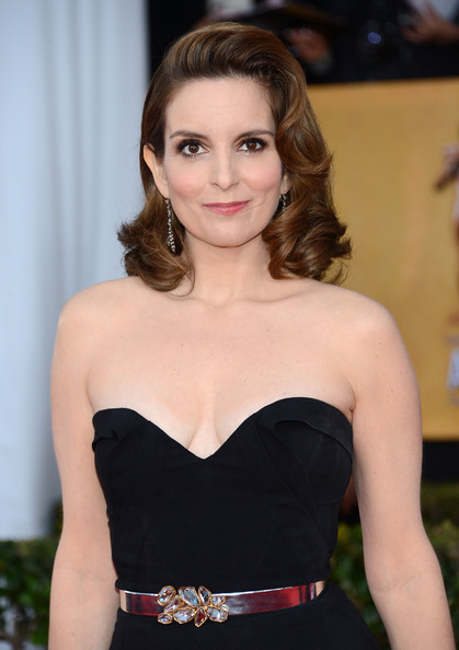 More Pics of Tina Fey Medium Curls (4 of 15) - Tina Fey Lookbook - StyleBistro