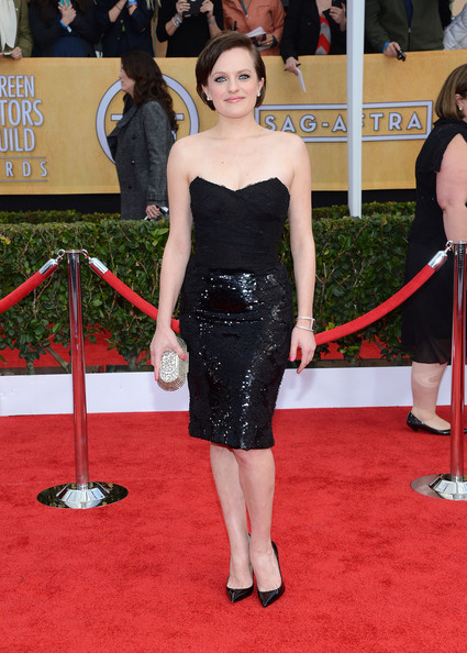 More Pics of Elisabeth Moss Little Black Dress (4 of 14) - Elisabeth Moss Lookbook - StyleBistro
