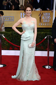 We love the vintage mint hue of Ellie's SAG Awards gown!
