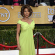 Alfre Woodard Wore an Off-the-Shoulder Chartreuse Gown at the 2013 SAG Awards