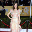 Rose Byrne Wore a Printed Frilly Chiffon Gown at the 2013 SAG Awards