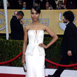 Kerry Washington Wore a Strapless Studded White Gown at the 2013 SAG Awards