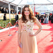 Ariel Winter Wears a Peach Floral Ballgown at the 2013 SAG Awards