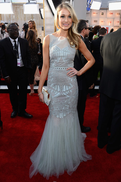 Katrina Bowden Wore a Pale Blue Beaded Gown at the 2013 SAG Awards