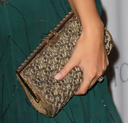 Devon attended the Baby2Baby Gala carrying a classy metallic clutch bag.