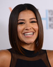 Gina Rodriguez framed her face with a super-sleek graduated bob for the Marie Claire Young Women's Honors.