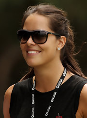 Even Ana Ivanovic's sunglasses have a touch of pink... one of her favorite colors!