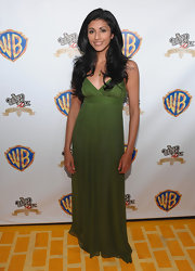 Reshma Shetty was simply stunning in a green chiffon evening dress at the anniversary celebration of 'The Wizard of Oz.'
