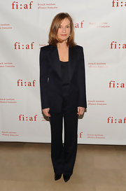 Isabelle Huppert looked flawless at the FIAF gala in a perfectly tailored black pantsuit.