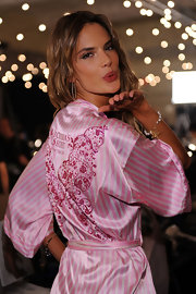 Alessandra has the most fabulous collection of silk robes. Ever.