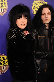 Alison Mosshart shows us her rocker's edge with this gunmetal studded jacket.  Killer.