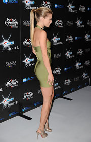 AnnaLynne completed her look with a sleek ponytail.
