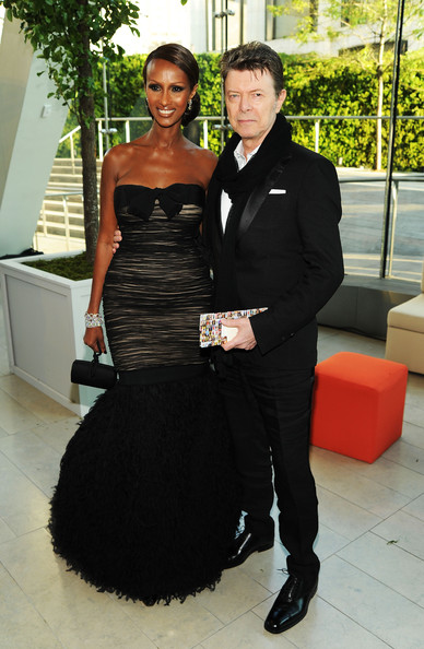 David Bowie and Iman at the CFDA Awards in 2010