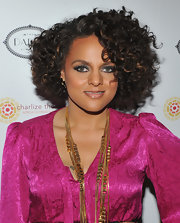 Marsha Ambrosius showed off soft ringlet curls while attending a benefit in New York City.