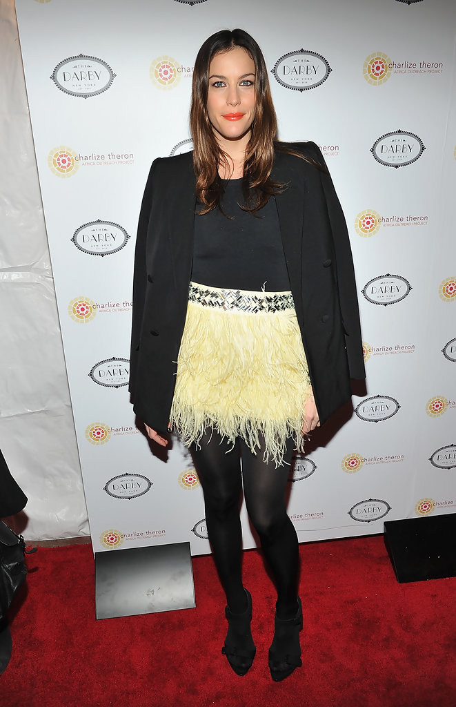 Liv Tyler attends the 2010 Charlize Theron Africa Outreach Project Benefit at The Darby Restaurant on December 6, 2010 in New York City.