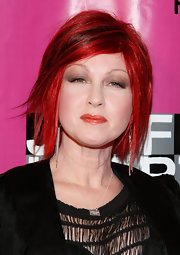 Rockstar Cyndi Lauper showed off her fire engine red bob while hitting the Joyful Heart Foundation Gala.