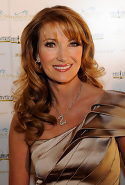 Jane Seymour hit the red carpet where she showed off her long curls and soft bangs.