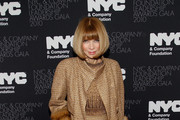 Anna Wintour Dons a Fur Embellished Evening Coat