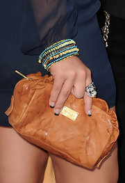 Fivel Stewart had the tips of her nails painted with black polish for the 2010 Teen Choice Awards.