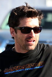 Patrick showed off his sporty side in a pair of athletic shades.