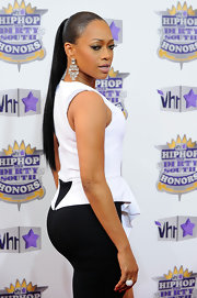 Trina showed off her long ponytail while hitting the Hip Hop Honors Awards.