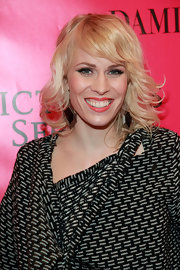 Natasha Bedingfield arrived at the 2012 Victoria's Secret Fashion Show after party wearing glossy coral lipstick.