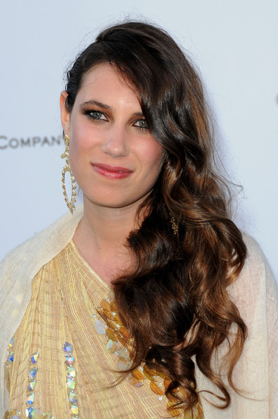 Tatiana Santo Domingo's side swept waves made for a romantic hairstyle.