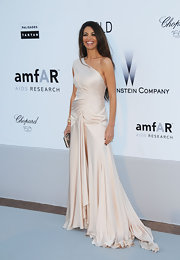 All eyes were on Afef Jnifen and her stunning one-shoulder dress at the 2010 amfAR's Cinema Against AIDS Gala.