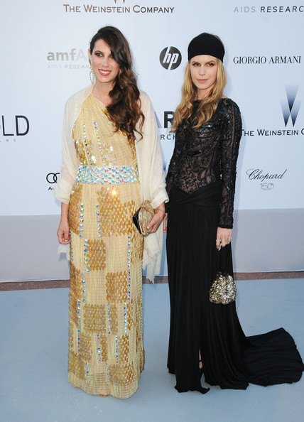 Tatiana Santo Domingo's beaded dress called upon fashion eras past all the while giving her a beautiful look present.