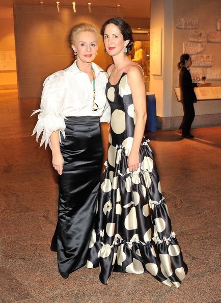 Patricia Lansing posed with the designer of her dress, Carolina Herrera, at the Apollo Circle Benefit.