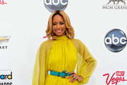 Keri Hilson Is Hot in a Chartreuse Rachel Roy Dress at the 2011 Billboard Music Awards