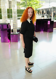Grace Coddington looked polished in black platform sandals at the 2011 CFDA Fashion Awards.