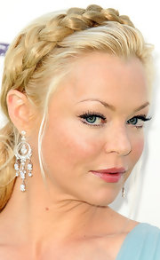 Charlotte Ross wore her hair in a modified chignon with a braided headband accent at the 2011 Environmental Media Awards. Paired with a pale blue dress and shimmering earrings she looked absolutely charming.
