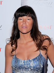 Paz de la Huerta kept styling to a minimum at the 2011 FiFi Awards with a simple wavy 'do and almost no makeup.