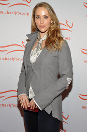 Elizabeth Berkley wore an asymmetrical trim blazer at the 2011 A Funny Thing Happened on the Way to Cure Parkinson's.