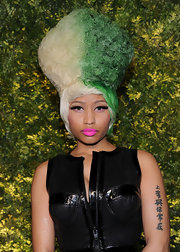 Nicki Minaj's colorful wig was the perfect touch for a night at the Green Auction.