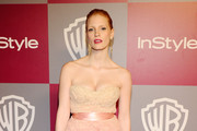 Actress Jessica Chastain arrives at the 2011 InStyle And Warner Bros. 68th Annual Golden Globe Awards post-party held at The Beverly Hilton hotel on January 16, 2011 in Beverly Hills, California.