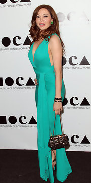 Rose McGowan wore an Eclisse bracelet in rose gold and jet and a Pan di Zucchero bracelet in rose gold.