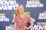 Actress Elle Fanning arrives at the 2011 MTV Movie Awards at Universal Studios' Gibson Amphitheatre on June 5, 2011 in Universal City, California.