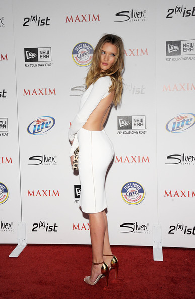 More Pics of Rosie Huntington-Whiteley Cutout Dress (2 of 18) - Rosie Huntington-Whiteley Lookbook - StyleBistro [miller lite,clothing,red carpet,shoulder,carpet,dress,cocktail dress,joint,fashion,premiere,leg,silver jeans co,arrivals,rosie huntington-whiteley,ist,eden,california,hollywood,new era,maxim hot 100 party]