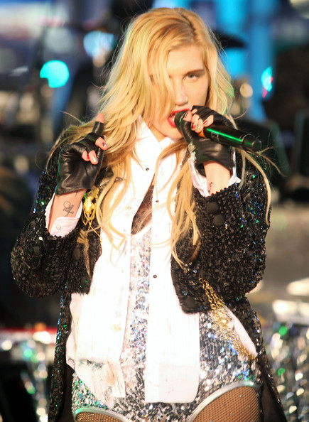 More Pics of Kesha Sequined Jacket (1 of 26) - Kesha Lookbook - StyleBistro [ke$ha,music artist,performance,entertainment,singing,singer,music,performing arts,pop music,event,musician,new years eve in times square,new york city,times square]