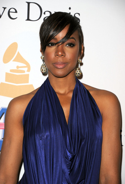 More Pics of Kelly Rowland Bangle Bracelet (1 of 7) - Bracelets Lookbook - StyleBistro [pre-grammy gala salute to industry icons,salute to industry icons,hair,shoulder,clothing,hairstyle,beauty,dress,cocktail dress,electric blue,black hair,joint,david geffen,kelly rowland,arrivals,beverly hills,california,beverly hilton,pre-grammy gala]