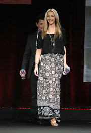Lisa Kudrow's long floral skirt at the 2011 Summer TCA Tour had a fun boho feel.