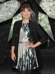Olivia Wilde wore a Phenix indicolite necklace at the unveiling of the Rockefeller Center Christmas Tree.