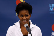 Michelle Obama wore a red carpet-worthy updo when she attended the 2011 US Open.