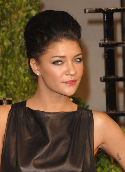More Pics of Jessica Szohr Lettering Tattoo (1 of 8) - Jessica Szohr Lookbook - StyleBistro