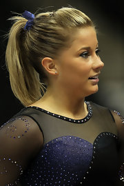 Shawn Johnson pulled her hair back in a ponytail for the 2011 Visa Championships.