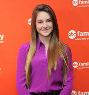 Shailene Woodley attended the 2012 ABC Family Upfront event wearing her ultra-long hair straight and super-sleek.